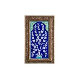 ARTIST Güvenç Güven Tile with flower tree and frame Tile;48;24;Frame;64;40