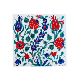 FLORAL Tile with flowers and leaves ;;20/25