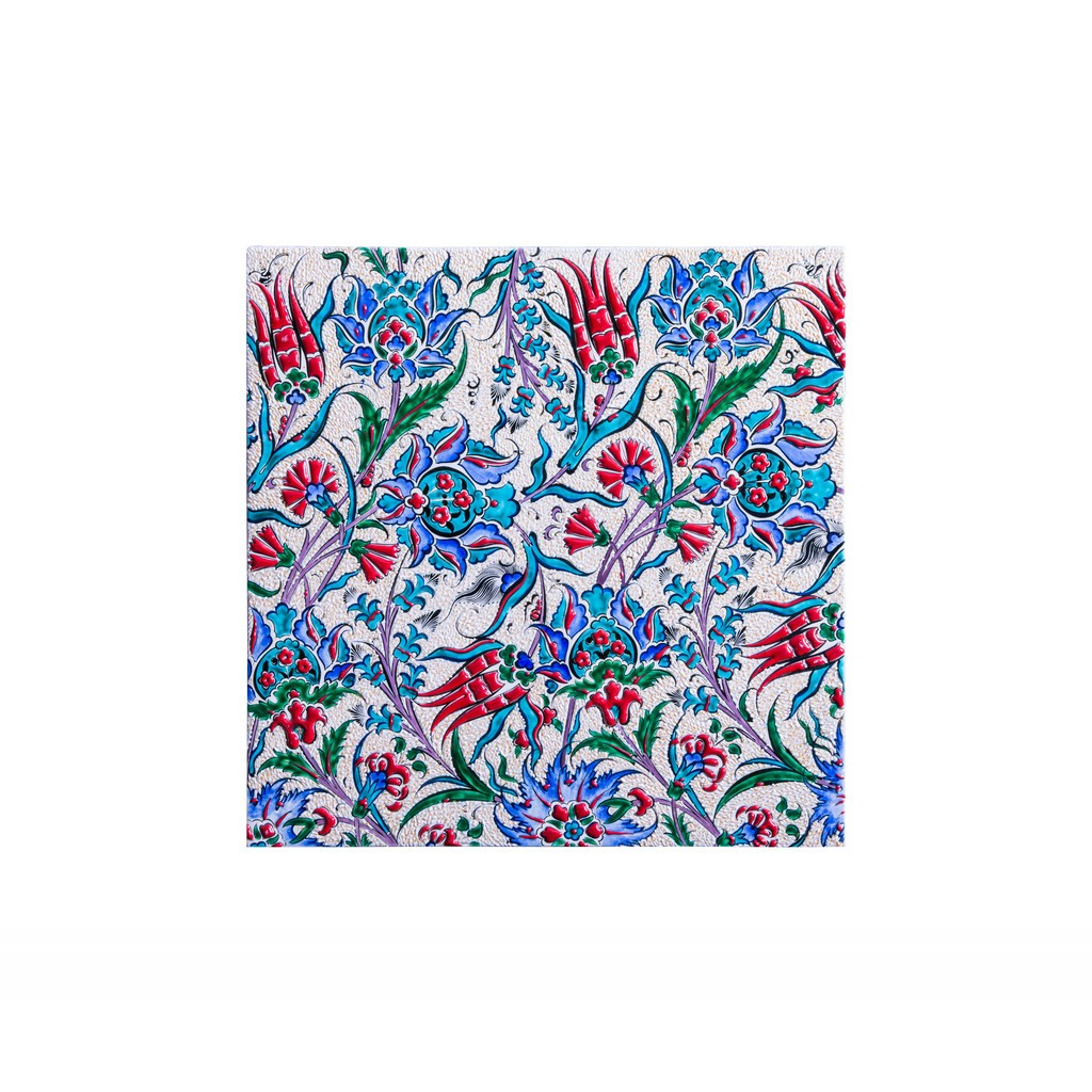 Tile with flowers and leaves ;;40 - FLORAL