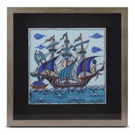 MINIATURE Tile with galleon  ;39;39;;;