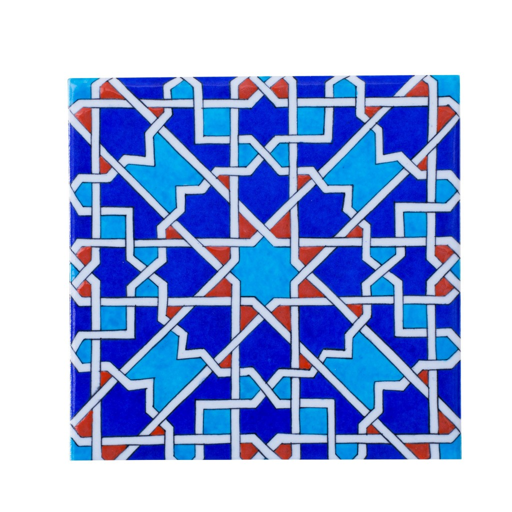 Tile with geometric star pattern ;;25 - TILE & PANELS