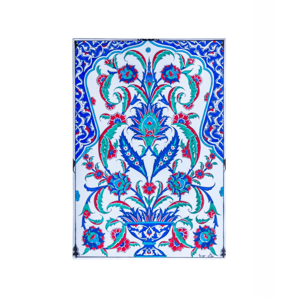 Tile with hatai and rumi patterns ;48;33 - FLORAL