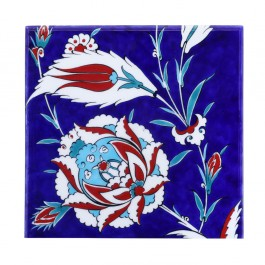 FLORAL Tile with hatais ;;25