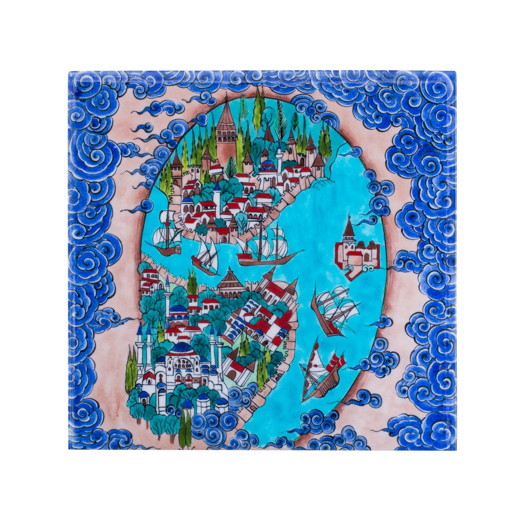 Tile with Istanbul miniature ;;25 - TILE & PANELS