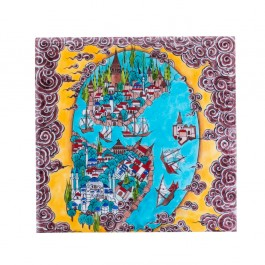 TILE & PANELS Tile with Istanbul miniature ;;25