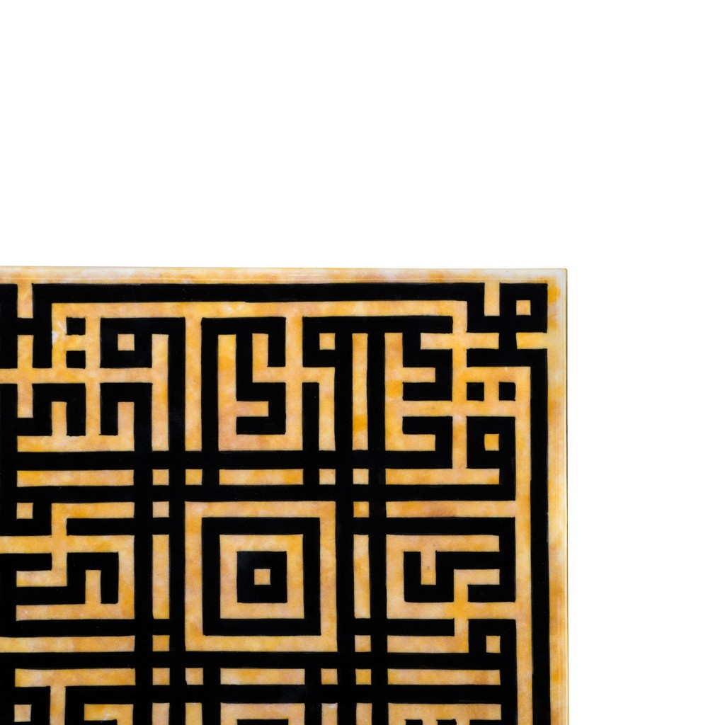 Tile with kufic calligraphy ;;20/25/30/40 - CONTEMPORARY