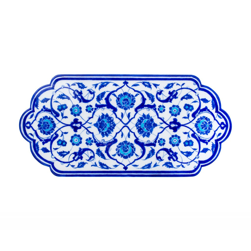 Tile with leaves and floral pattern ;23;49 - TILE & PANELS