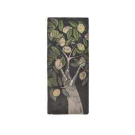 RAKU Tile with lemon tree ;;
