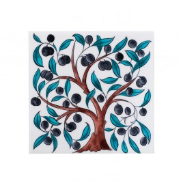 FLORAL Tile with olive tree ;;20/25