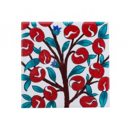 FLORAL Tile with plum tree ;;20/25