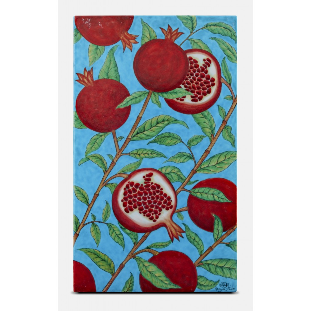 Tile with pomegranate pattern ;47;28;;; - TILE & PANELS