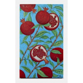FLORAL Tile with pomegranate pattern ;47;28;;;
