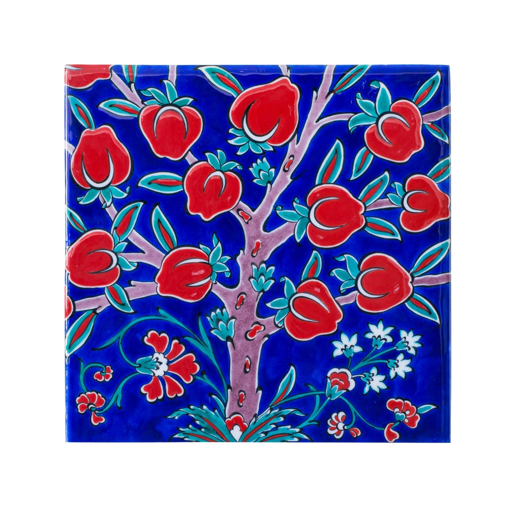 Tile with pomegranate tree ;;25 - TILE & PANELS