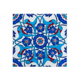 FLORAL Tile with rumi and hatai pattern ;;20/25