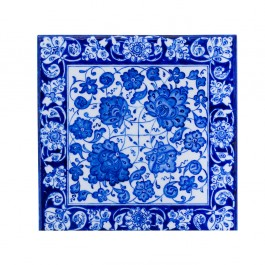 FLORAL Tile with rumi and hatai pattern ;;25