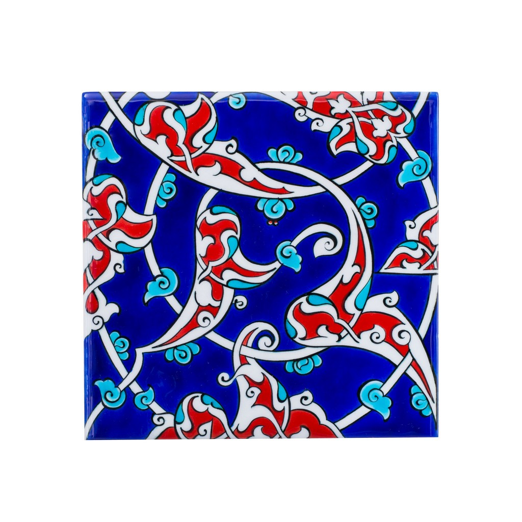 Tile with rumi pattern ;;20/25 - TILE & PANELS