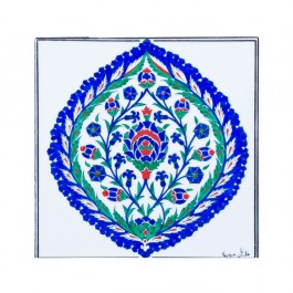 FLORAL Tile with saz leaves and floral pattern ;;25