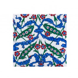 FLORAL Tile with symetric floral composition ;;20/25