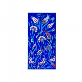 FLORAL Tile with tulip and carnation flowers ;50;25