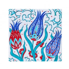 FLORAL Tile with tulips ;;25