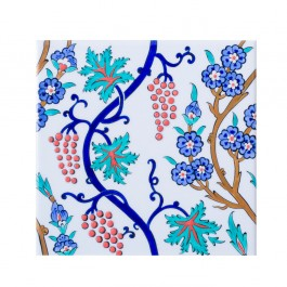 FLORAL Tile with vines ;;25