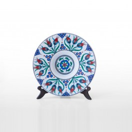 CONTEMPORARY Tondino plate with floral pattern ;;27