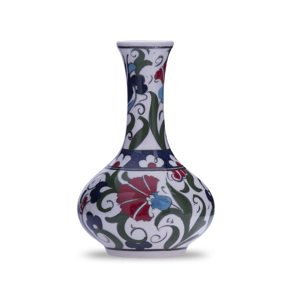Vase with carnation design ;12;;;; - FLORAL