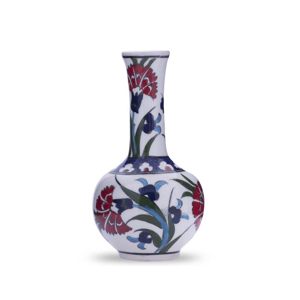 Vase with carnation design ;14;;;; - VASE