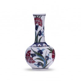 FLORAL Vase with carnation design ;14;;;;