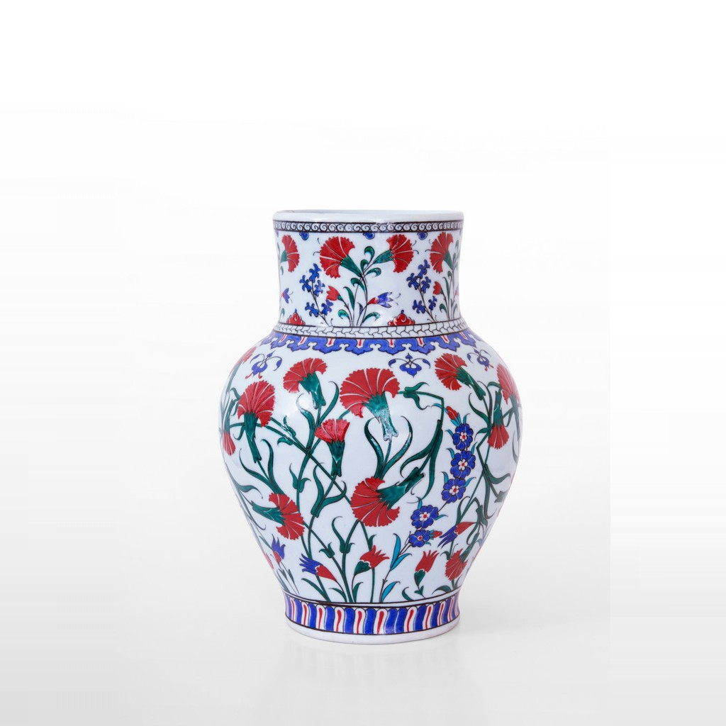 Vase with carnation flowers ;32;23;;; - VASE