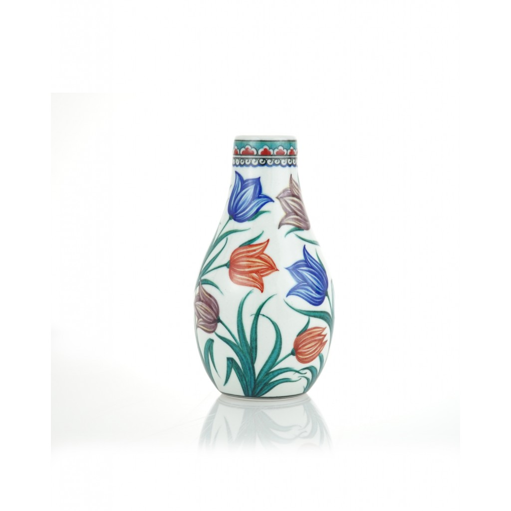 Vase with colorful tulips ;26;12;;; - VASE