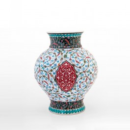 ARTIST Saim Kolhan Vase with contemporary tugrakesh pattern ;40;30