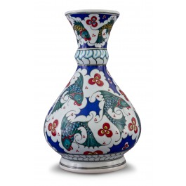 ARTIST Adnan Ergüler Vase with fish and Cintemani pattern ;34;17;;;