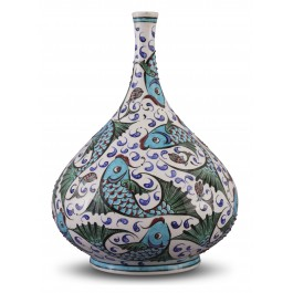 CONTEMPORARY Vase with fish pattern ;;;;;