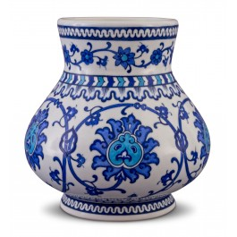 BLUE & WHITE Vase with floral pattern ;21;19;;;