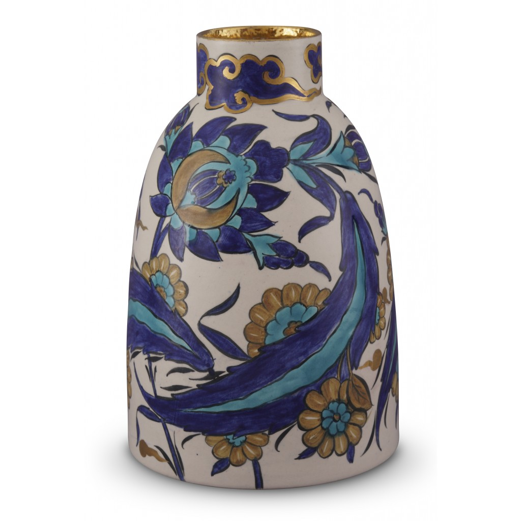 Vase with floral pattern ;26;16;;; - CONTEMPORARY