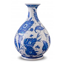 BLUE & WHITE Vase with floral pattern ;27;15;;;