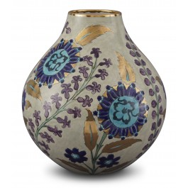 CONTEMPORARY Vase with floral pattern ;32;25;;;