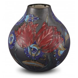 CONTEMPORARY Vase with floral pattern ;32;27;;;