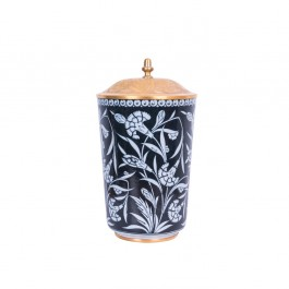 BLACK & WHITE Vase with floral pattern ;34;19;;;
