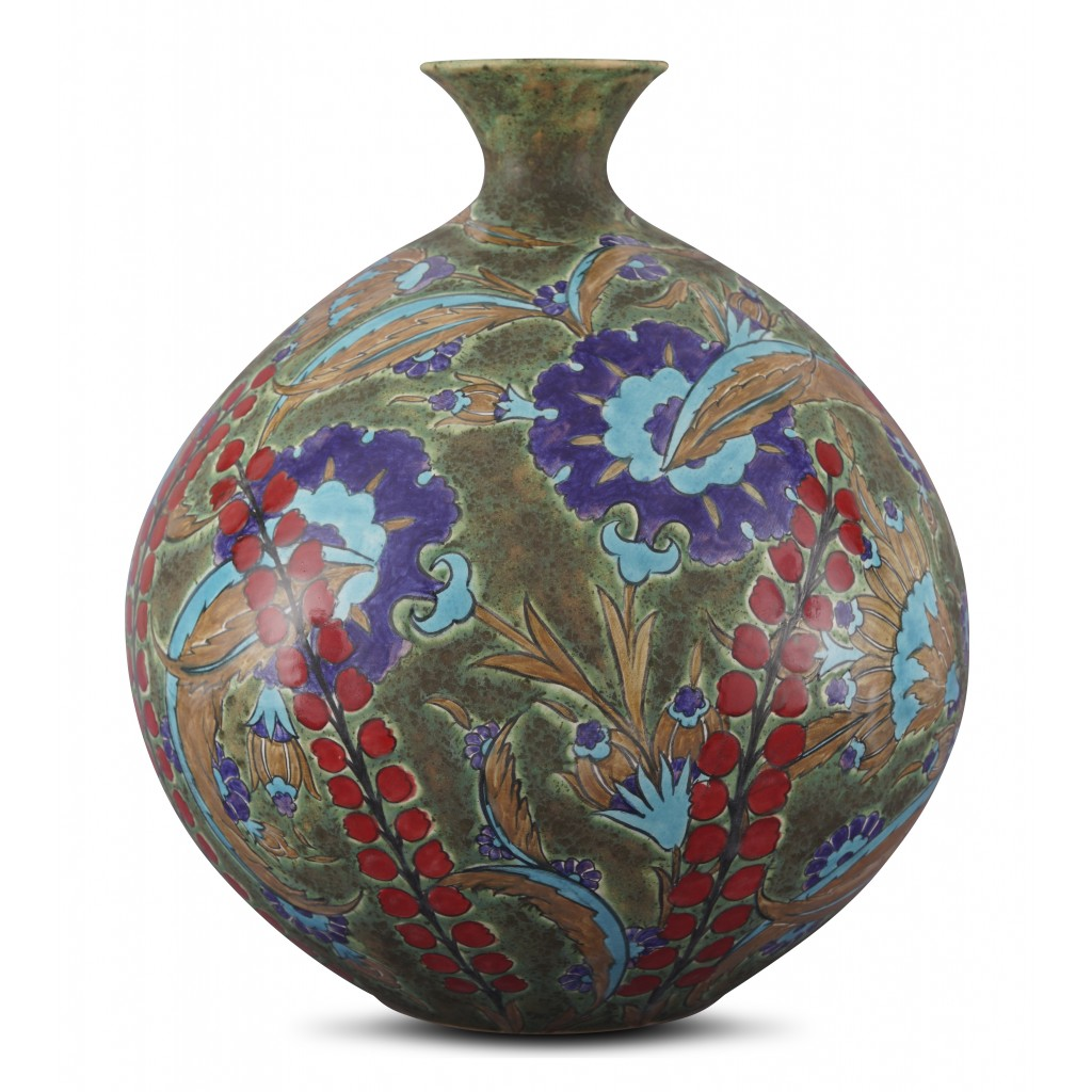 Vase with floral pattern ;40;36;;; - CONTEMPORARY