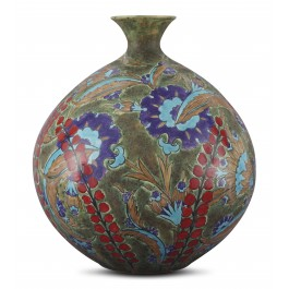 CONTEMPORARY Vase with floral pattern ;40;36;;;