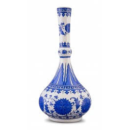 BLUE & WHITE Vase with floral pattern ;47;22;;;