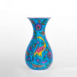 FLORAL Vase with floral pattern and bird figure ;44;21