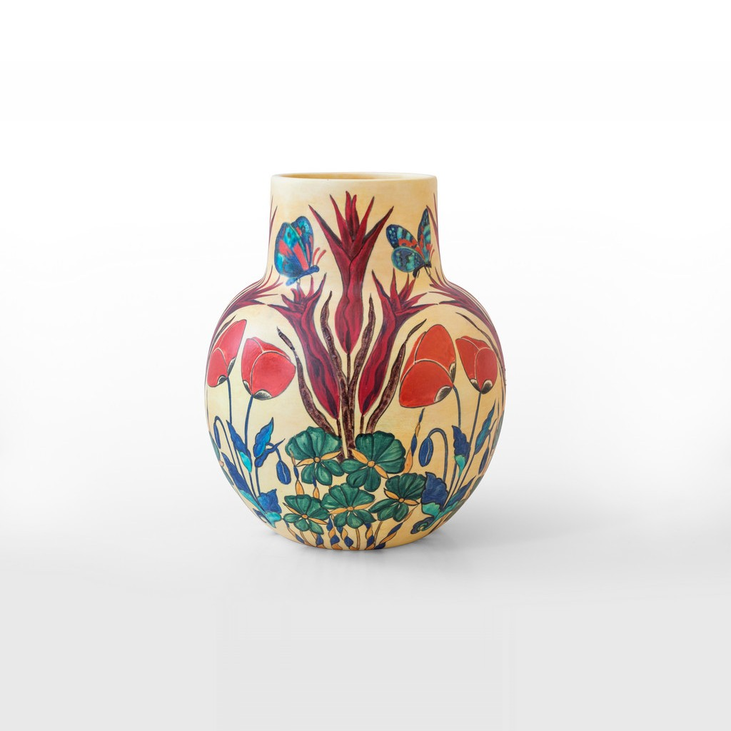 Vase with flowers and butterflies in contemporary style ;39;33 - FLORAL