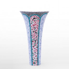 FLORAL Vase with hatai and spiral tuğrakesh pattern ;48;27;;;