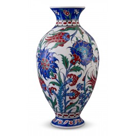 FLORAL Vase with Hatai, tulip and hyacinth patterns ;;;;;