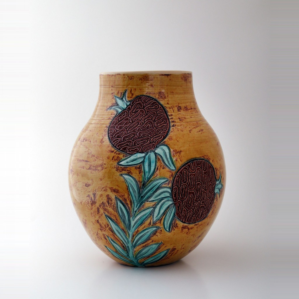 Vase with pomegranates in contemporary style ;32;25 - VASE