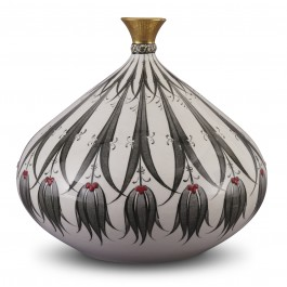 CONTEMPORARY Vase with reverse tulip pattern ;31;30;;;