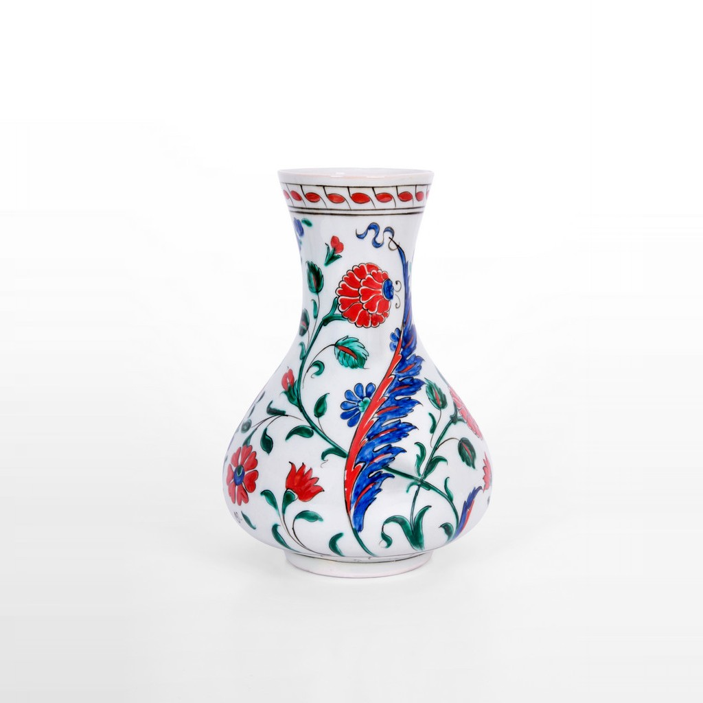 Vase with saz leaves and flowers ;23;15 - VASE